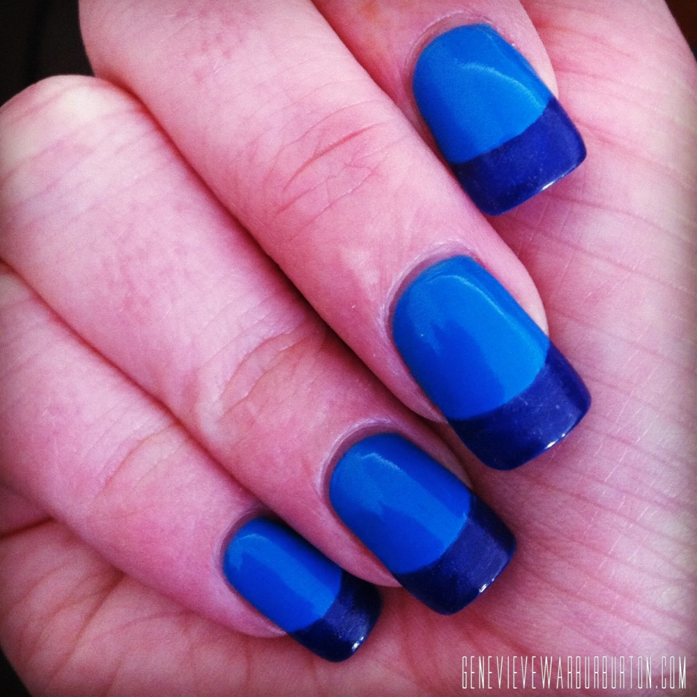 Awesome Two Tone Nails Sketch - Nail Art Design Ideas ...